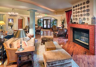 Lobby of Hotel Los Gatos, California